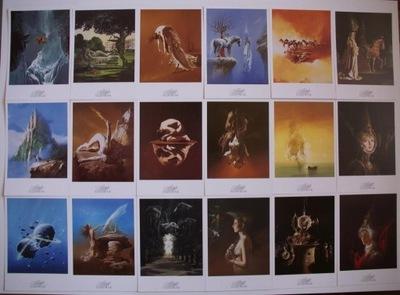 SIUDMAK - 18 Открытки - Картины - Сюрреализм