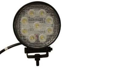 Лампа рабочая LED круглая 27W 12 /24V зарядное устройство