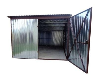 гараж железный 3х5 жесть СТРОИТЕЛЬСТВО Гаража из листового металла