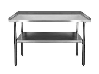 Pracovný stôl, stavebný podstavec -  PRACOVNÁ TABUĽKA 1500x600mm NEREZOVÝ OCEL 3 RANT HIT