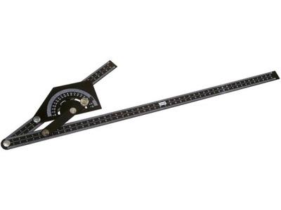 Угольник регулируемый алюминиевый с kątomierzem 230