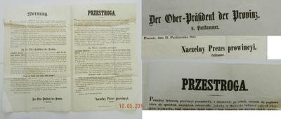 1854 Poznań Przestroga Oszuści Prowincja Poznańska