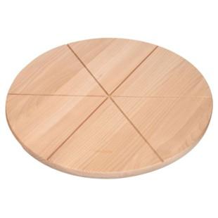 Doska na rezanie - Deska drewniana na pizzę 45 cm z rowkami POLSKA