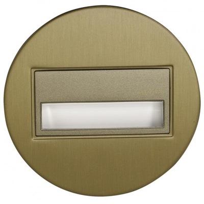 Bodové svetlá, bodové osvetlenie - Ledix oprawa LED Sona okrągła PT 14V złoto ciepła