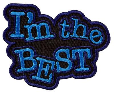 Полоса ?????????? Заплатка термо THE Best Синий