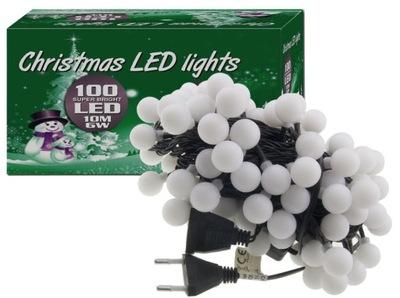 огни елочные ШАРИКИ 100 LED, 10М, IP44 B . ТЕПЛЫЙ