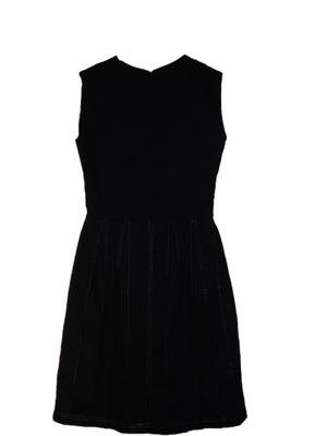 Sukienka Zakładkowy Cud Czarna 40 dla wysokich