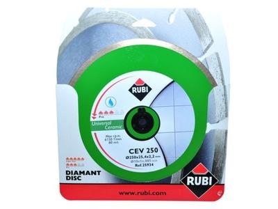 Rezací kotúč - Diamantový kotúč RUBI CEV250 PRO pre dlaždice