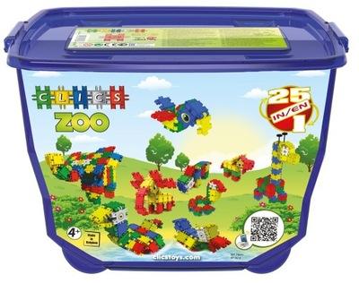 Klik-klak stavebnica pre deti - Originálne tehly CLICS FB001 ZOO 460el 25w1 HIT