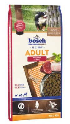 Bosch ADULT LAMB RICE баранина 15 КГ