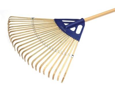 Grabie BAMBUSOWE Liście Trawa 60cm 24-zębne LEKKIE