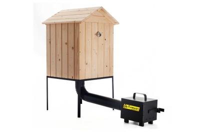 КРУПНЕЙШАЯ коптильня для сада деревянная комплект XXL