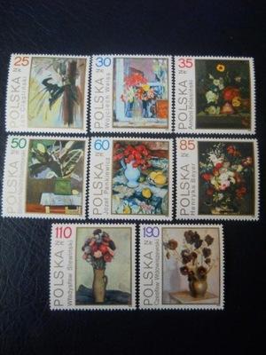 Polska - Fi.nr 3089-96 - kwiaty w malarstwie **