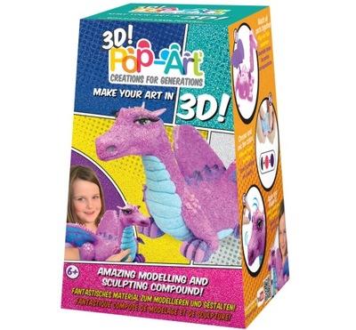 FIGURKA 3D ZABAWKA SMOCZYCA MASA PLASTYCZNA 38041