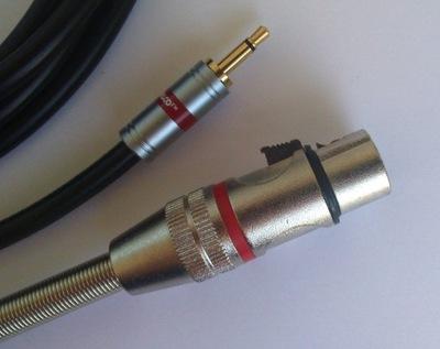 IMG kabel  mini Jack mono / XLR  żeński 3P   0.75m