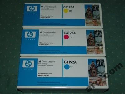 Toner oryg HP C4193A Magenta Czerwony LJ 4500 4550