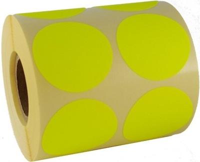 nálepky štítky papierové nálepky žlté kruhy 5cm