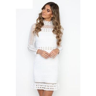 5cddbee03b Sukienka mini koronkowa ażurowa lato 5 kolorów M - 6743726056 ...