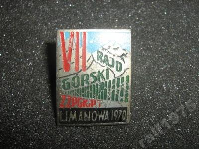 RAJD GÓRSKI LIMANOWA 1970