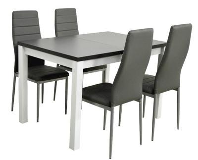?????????? стол и 4 стулья белый Серый комплект