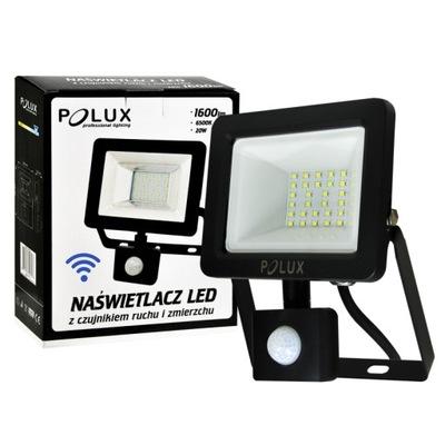 Osvetlenie vonkajšie - Naświetlacz projektor LED 20W czujnik POLUX 304797