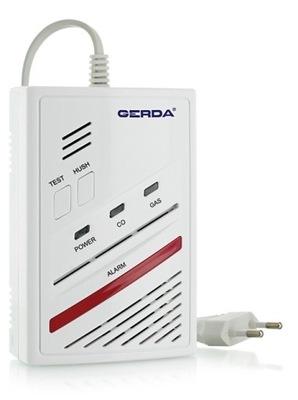 Smart senzor - Czujnik Detektor GERDA GC94 GAZ + CZAD CO Czujka
