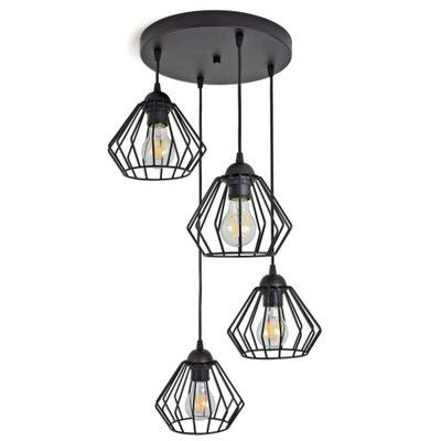 LAMPY PRÍVESOK lampa STROPNÝ LUSTER DIAMOND LED 724-E4