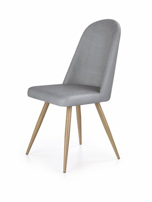 Krzesło K214 c.krem czereśnia ant. e.skóra HAMAR