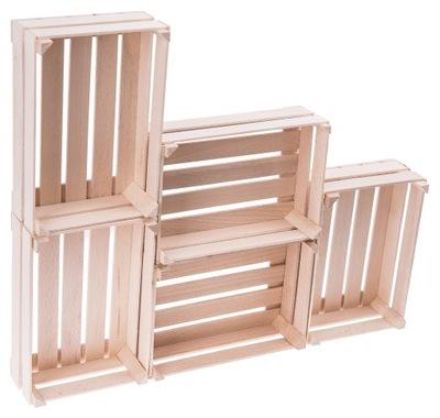 Drevený BOX, KARTÓN 5 Ks 17,5x12,0 cm