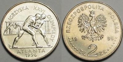 2 zł -1995- Zapaśnicy-Atlanta 1996 -Okazja -Kup !