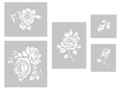 Ruže - nastavenie kreatívne maľovanie šablón