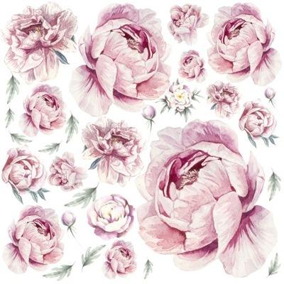 Пионы цветы ПИОНЫ наклейки на стену 50х50 WOW