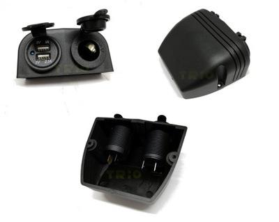 Герметичные боковые 1x гнездо + 2 USB 12V CE