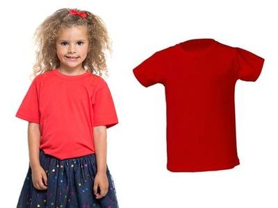 T-SHIRT DZIECIĘCY koszulka JHK 5-6 122 32kolory