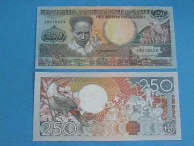 Суринам Банкнота 250 Гульденов P-134 UNC 1988