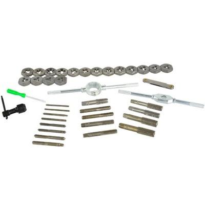 Sada nástrojov - M3-M12 kohútiky a matrice 40 ks