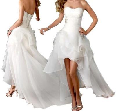 92b9a9697b SUKNIA ŚLUBNA sukienka HI-LO BANV 40 L na JUŻ