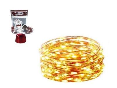 огни проволочки 100 LED батареи 10м