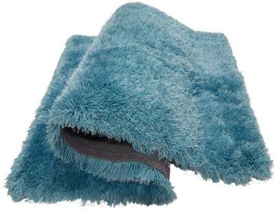 Koberec SHAGGY 80x150 MACHO tyrkysová modrá HRUBÉ