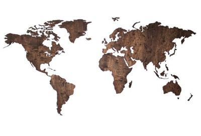 Mapa sveta Drevené HRUBÉ 10 mm 180x90