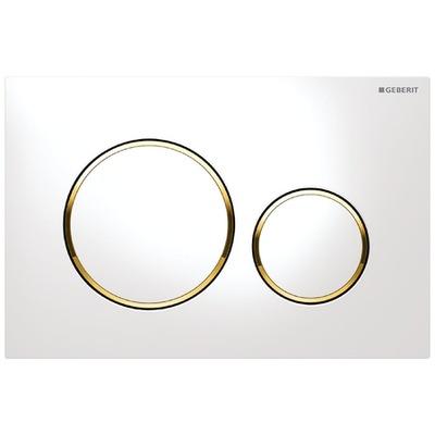 GEBERIT SIGMA 20 tlačidlo pre WC misy biele zlato kruhu
