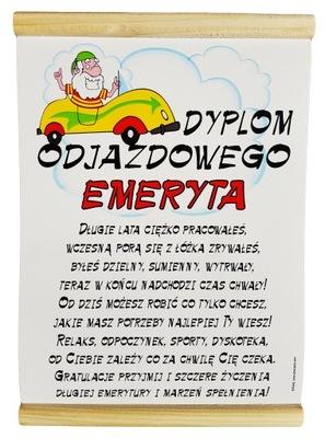 Dyplom Prezent Na Emeryturę Emerytki Emeryta 7127603311