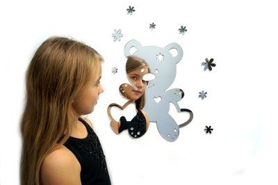 3D ornament do izby - Dekorácia pre deti 3d BEAR zrkadlo nerozbitné PL