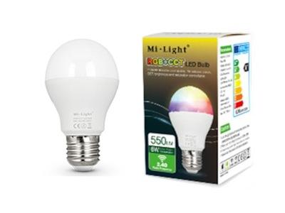 MILIGHT ЛАМПА SMART LED RGB CCT E27 6W FUT014