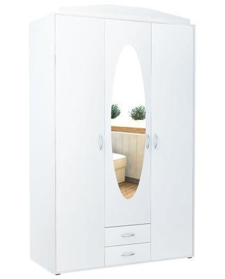 шкаф шкаф 3D2S белая trzydrzwiowa ? зеркалом
