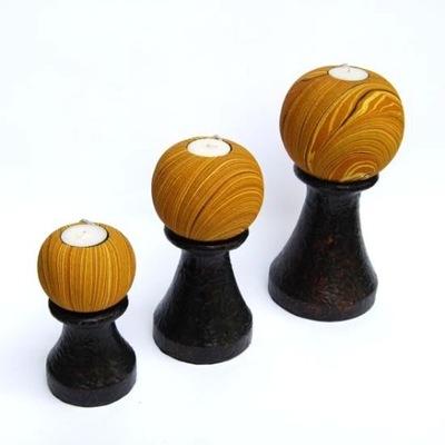 Svietniky sada 3 kusov CND175 orient žltá