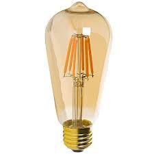 Лампа LED E27 ST64 6W=60W 540lm Edison filament