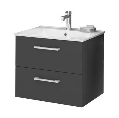 Set do kúpeľne a WC - DEFTRANS CARRY umývadlo 60 cm s grafitovou skriňou