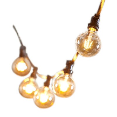 LED svietidlá GIRLANDA - GIRLANDA świetlna 15 mb +15 LED Vintage Amber G80
