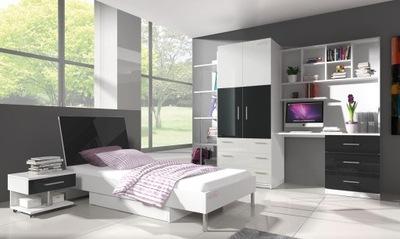 nábytok RAJ 3 mini + matrac, 5 farby-lesk nastaviť.